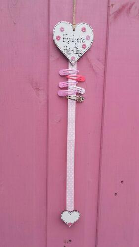 Personalised Hair Clip Holder -Bows Party bag filler Slides Bedroom Organiser