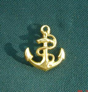 Anker-goldfarben-Anstecknadel-2cm-Kapitaen-Schiffahrt-Applikation-Marine