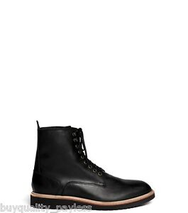 $300 Cole Haan Martin Wedge Lace WATERPROOF Black Leather Boots Mens 11 NEW