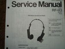NATIONAL PANASONIC RF-H3 Headphone Radio Service manual wiring parts diagram