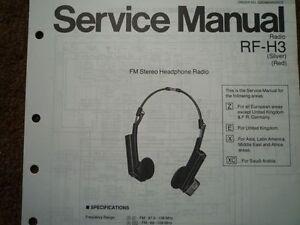 s l300 national panasonic rf h3 headphone radio service manual wiring parts
