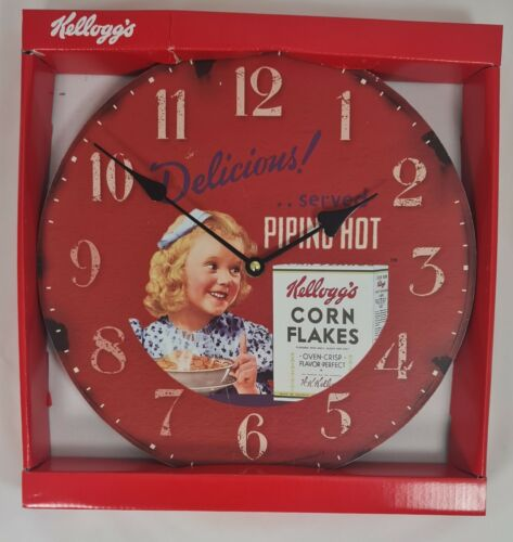 Retro Kitchen Wall Clocks by Kellogg/'s 30cm Round Battery Operated Boxed NEW