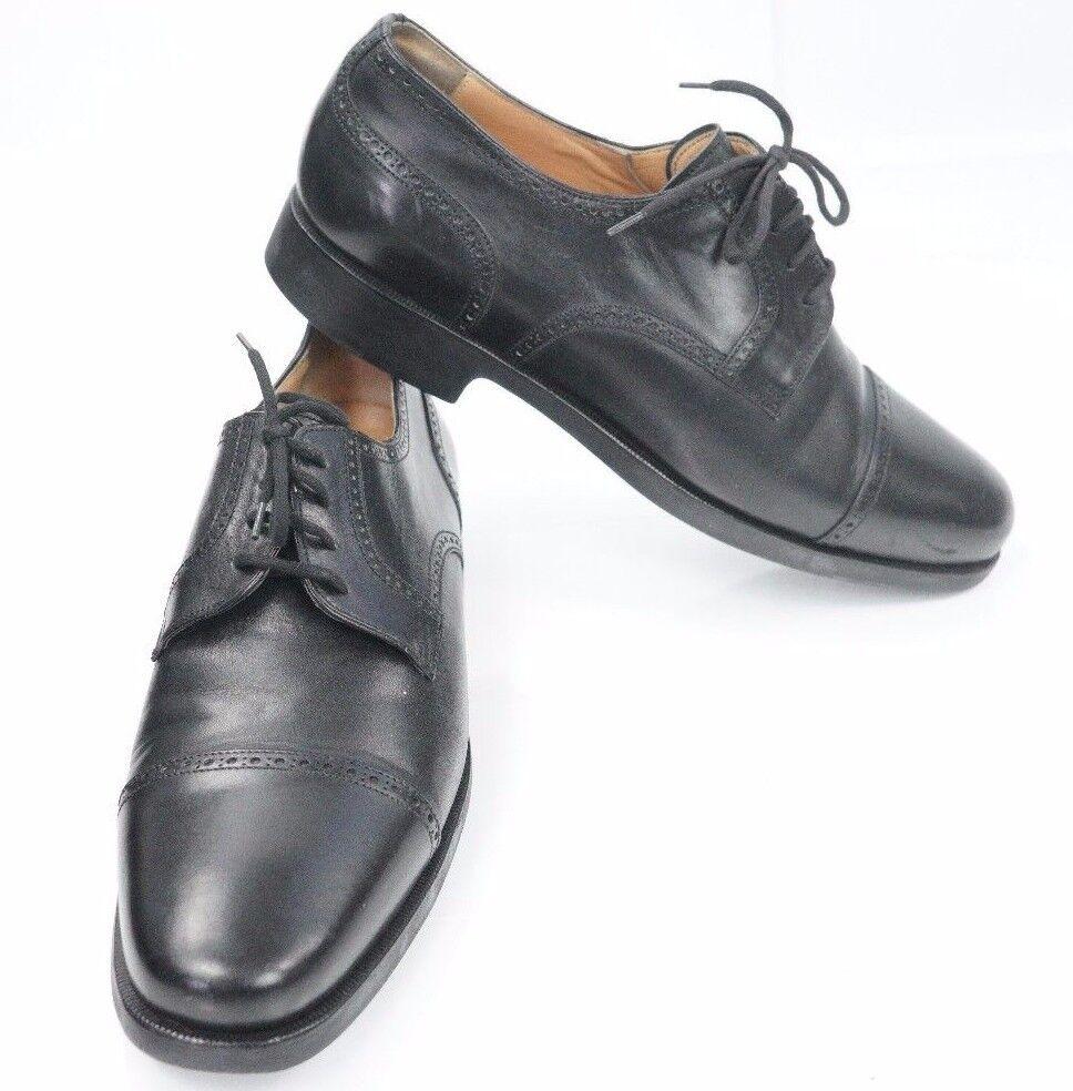 Mens Aldo Brue Attiva Black Cap Toe Leather Oxfords shoes US 7, Euro 40