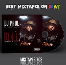 DJ Paul - Mafia 4 Life Mixtape (CD/Front/Back Cover) Three Six Mafia 2016