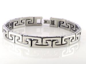 Herren-Damen-Edelstahl-Armband-mit-Gravur-silber-Armreif-Armkette-Schmuck