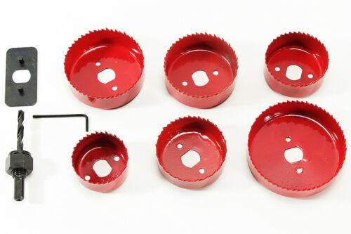 Cercle De Boulon Perceuse New Scie circulaire 7 pièces rouge bohraufsätze doses Foret Fraise carbure
