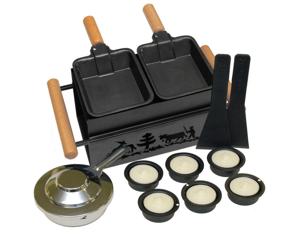 Raclette-Set pour 2 personnes Mini-reclette Set raclette soir fromage au