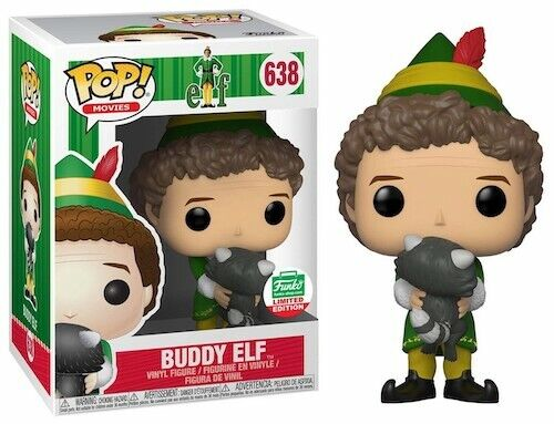Funko Pop Movies 638 Elf 32338 Buddy Elf with Raccoon Funko Shop