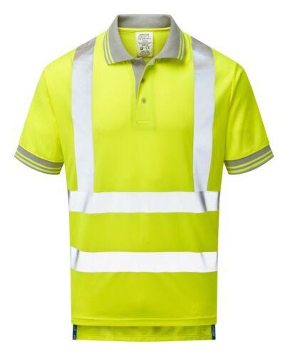 Pulsar ® P175 Jaune Hi Vis 100/% polyester Bird Eye Knit Polo Shirt protection UV