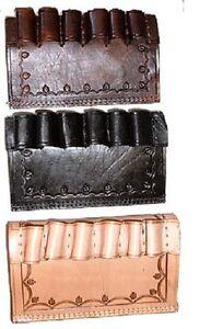 Leather Shotgun Shell Détenteurs Du Mexique-neuf!-afficher Le Titre D'origine
