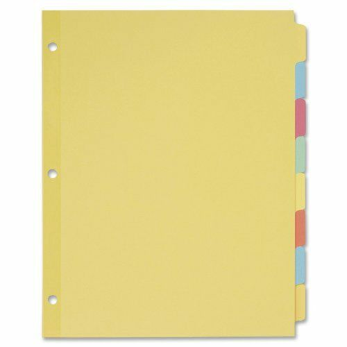 Avery Recycled Write-on Tab Divider - Write-on - 8 Tab[s] set - 8.50  X 11  - 24