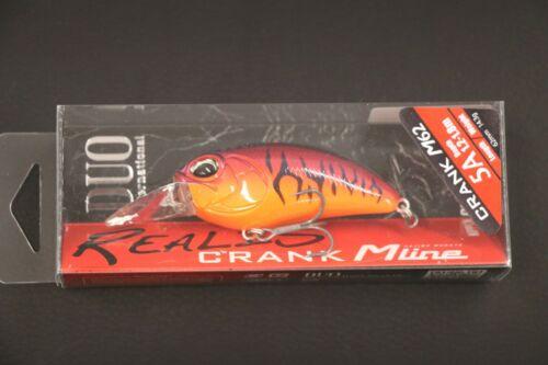 Duo réelle Manivelle M62 5 A RED TIGER 62 mm flottant Bass Diving Crankbait 62