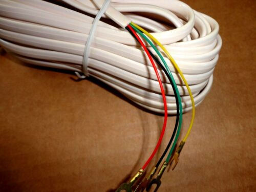 25ft Telephone Modular Plug Extension Cord w//4-Wire Spade Lugs Ivory 25/' 25Foot