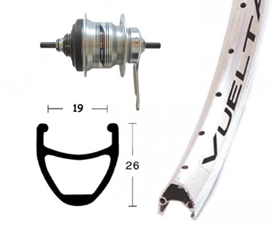 Bike-Parts 28″ Hinterrad Rodi Airline 1 + Nabenschaltung Shimano 7-Gang (RB)