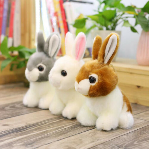 Adorable Bunny Plush Toy Soft Stuffed Animal Doll Home Car Decoration