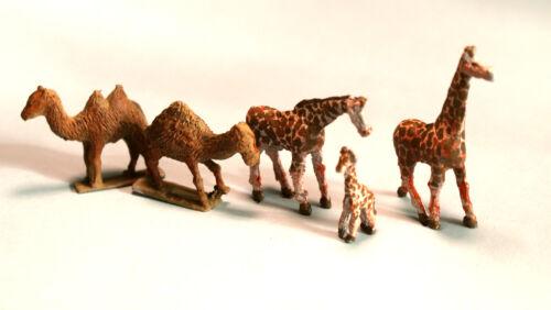 Zoo Giraffe Camels Animals UNPAINTED N Gauge Scale Langley Models Kit 1//148