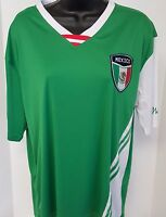 Basix Soccer Men's Green/white/red/black Mexico Soccer Shirt Size Xl