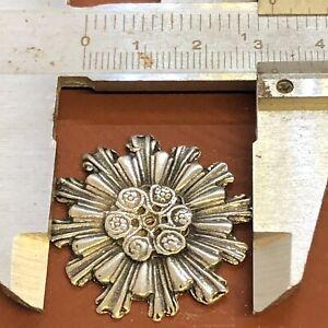 Raggiera per santo aureola  Metallo Bagno argento 3 cm raggi accessorio statua