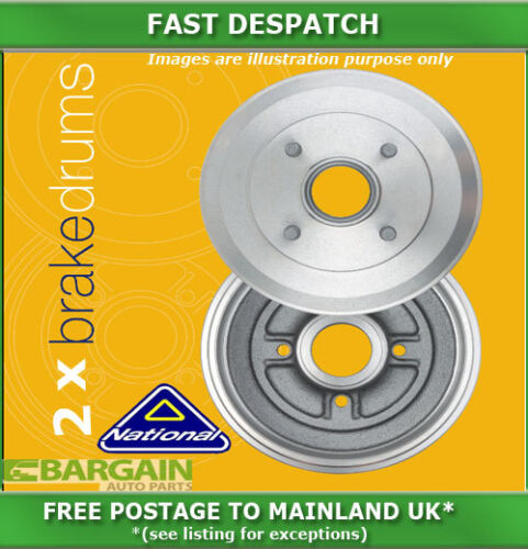 REAR BRAKE DRUMS FOR FORD TRANSIT 1.6 091985 091992 3100