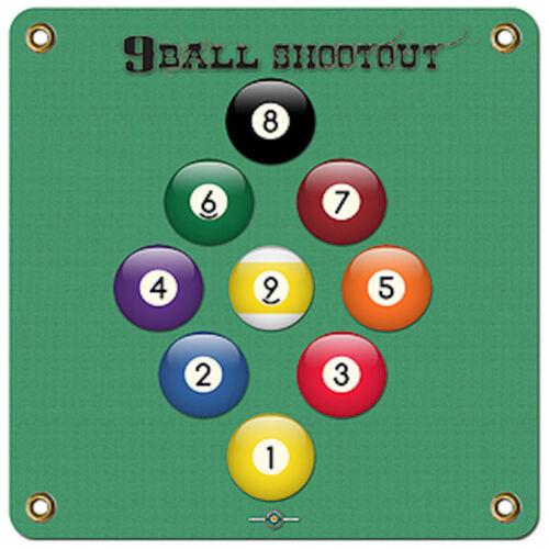"1500 PLUS SHOTS 9-BALL 17/""X 17/"" ARCHERY TARGET"