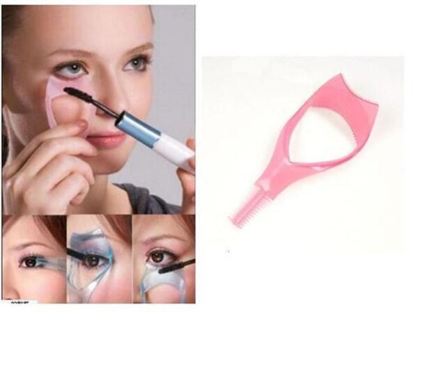 Eyelash Tool 3 in 1 Makeup Mascara Shield Guard Curler Applicator Comb Guide VP