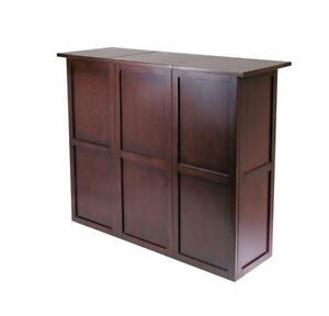 Home Bar Furniture Portable Liquor Storage Cabinet Wine Rack Mini Table Party Ebay