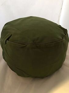 small pouf pillow bean bag cover olive green pouff. Black Bedroom Furniture Sets. Home Design Ideas