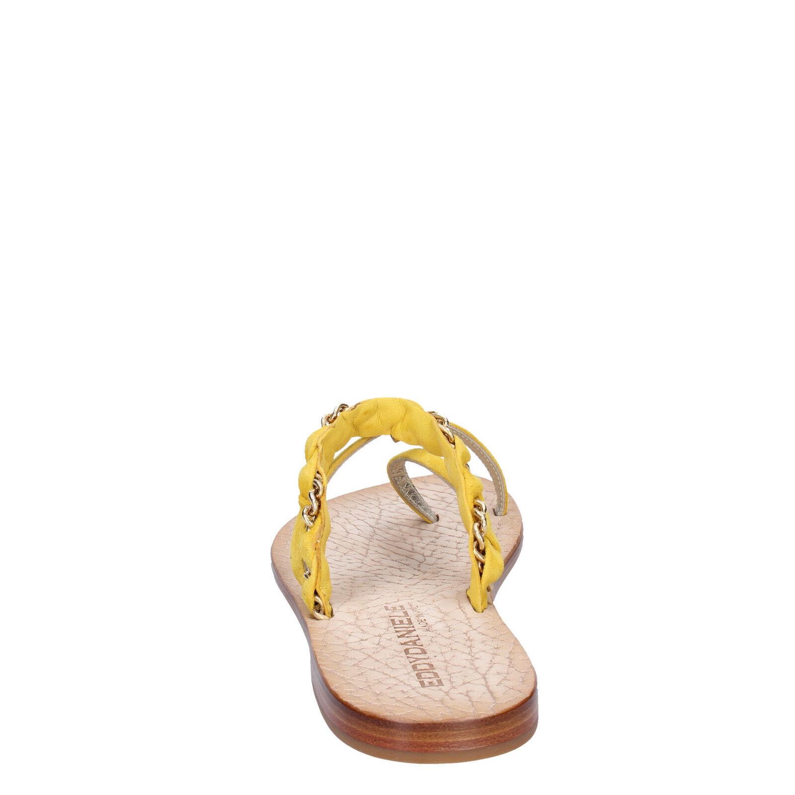Damen schuhe EDDY 37 DANIELE 37 EDDY EU Sandale gelb wildleder AW311-37 52e2e6
