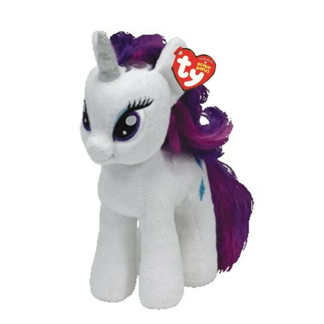 23026a3b04a My Little Pony TY Beanie Babies - Rarity 7 Inch Plush Baby Horse ...