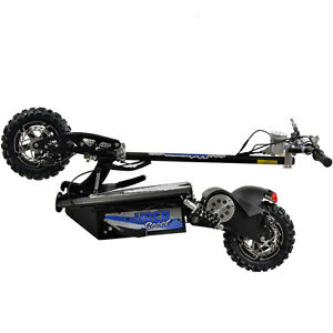Black EV 1600 Watt Electric Scooter UberScoot Evo Foldable Powerboard Seat Fold