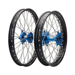 Impact-Complete-Front-Rear-Wheel-Kit-1-60-x-21-2-15-x-18-Black-Rim-Silver-Spoke