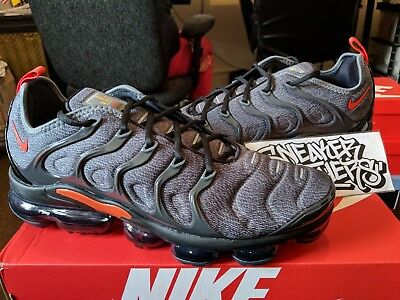 sports shoes 67006 60abd Nike Air Vapormax Plus Cool Grey University Gold Team Orange 924453-012 |  eBay