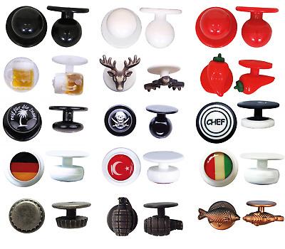 =2 einzelne in schwarz oder weiß Knopfleisten für Kugelknopf Kochjacken im Set