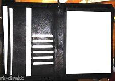 51638 Schreibmappe A4 Rind-Nappaleder mit Reißverschluss