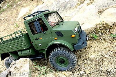 1/10  Mercedes-Benz Unimog Scale Truck Plastic Body Shell ** UNPAINTED **  NIB