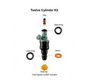 fuel injector 12 cylinder service repair kit 004 fits bmw ebay. Black Bedroom Furniture Sets. Home Design Ideas