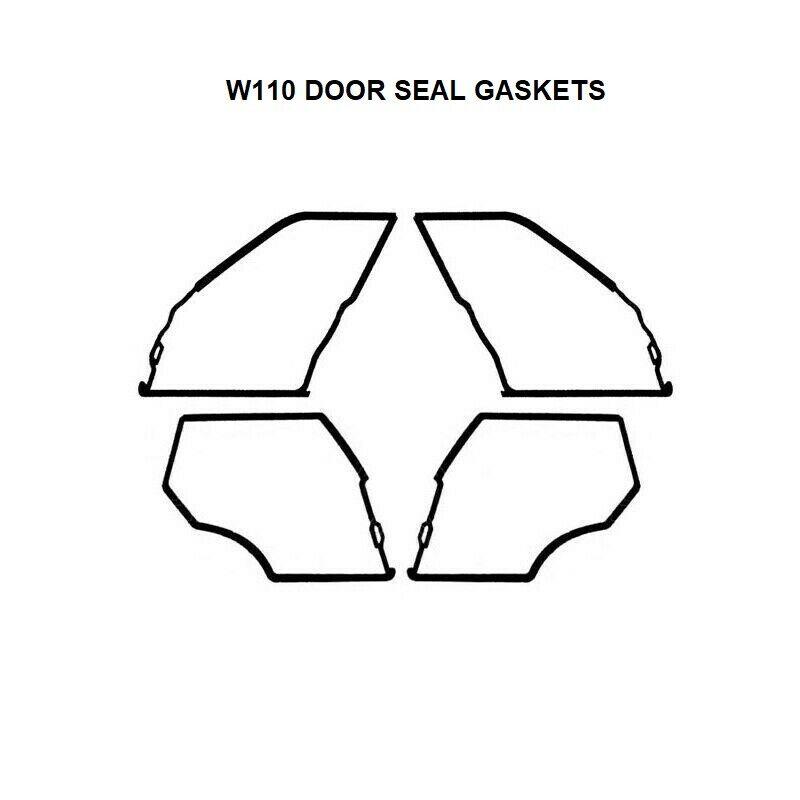 Mercedes W116 Weathership Gasket Seal Kit Door Window Trunk Rubbers 13 Pieces