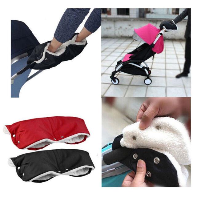 Winter Warmer Baby Pram Stroller Hand Muff Waterproof Fingerless Gloves UK