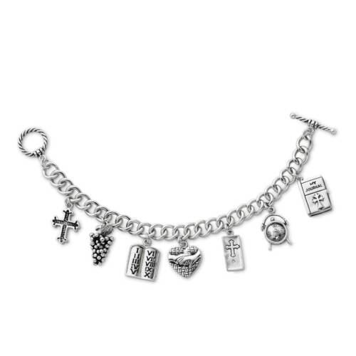 Sentimental Expressions 925 Silver /'Answered Prayer/' Locket Charm Bracelet 7.5/""