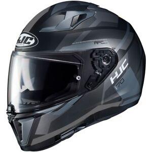 NEU-HJC-Helm-I70-Elim-schwarz-grau-matt-Gr-S-55-56-Motorradhelm-Sonnenblende