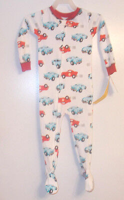Just One You by Carter's Toddler Boy Cars Sleeper No Slip Feet Size 2T NWT