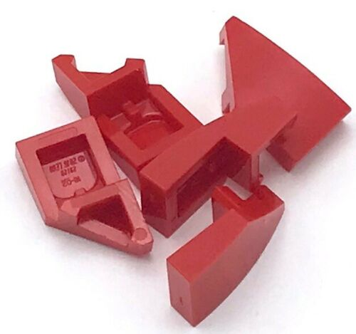 Lego 5 New Red Wedge 2 x 1 with Stud Notch Left Pieces Parts