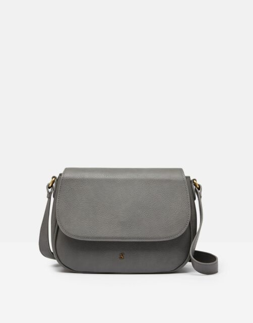 Joules 209442 Faux Leather Saddle Bag - DARK GREY in One Size