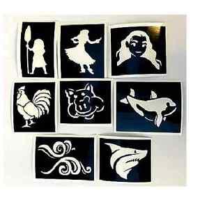 Moana facepaint Stencils
