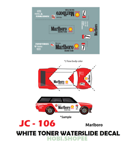 Jc 9106 White Toner Waterslide Decals Marlboro For Custom 1 64 Hot Wheels Ebay