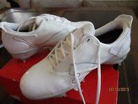 Puma Sass Wn's J Womens Golf Shoes White W/ Silver Sz 8 new W/ Box