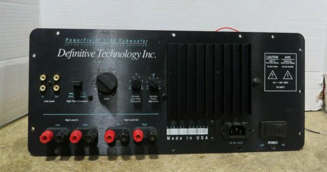 Definitive Technology PowerField 1500 Subwoofer Amplifier Only No Speaker/Case