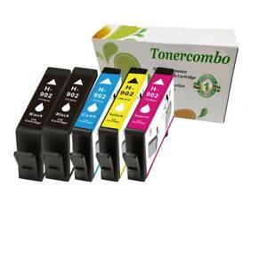 Details about 5 pk 902 ink set for OfficeJet Pro 6975 6968 6978 6960 6954  Printer HI-QTY!