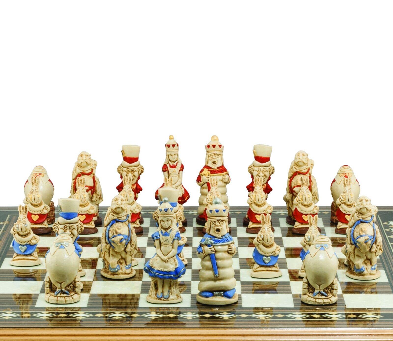 STUDIO ANNE voitureLTON Chess Alice au pays  des merveilles peinte à la main  connotation de luxe discret