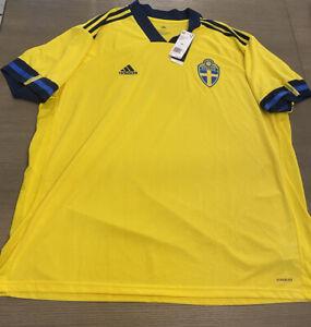 Original Adidas Sweden Soccer Futbol Home Jersey Size Mens 3XL | eBay